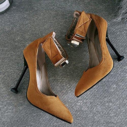 Mariée Escarpins Aqoos De Strass Prom Bout Stiletto Chaussures Party Pointu Femmes Mariage Brown Cour Talons Hauts R8xR7