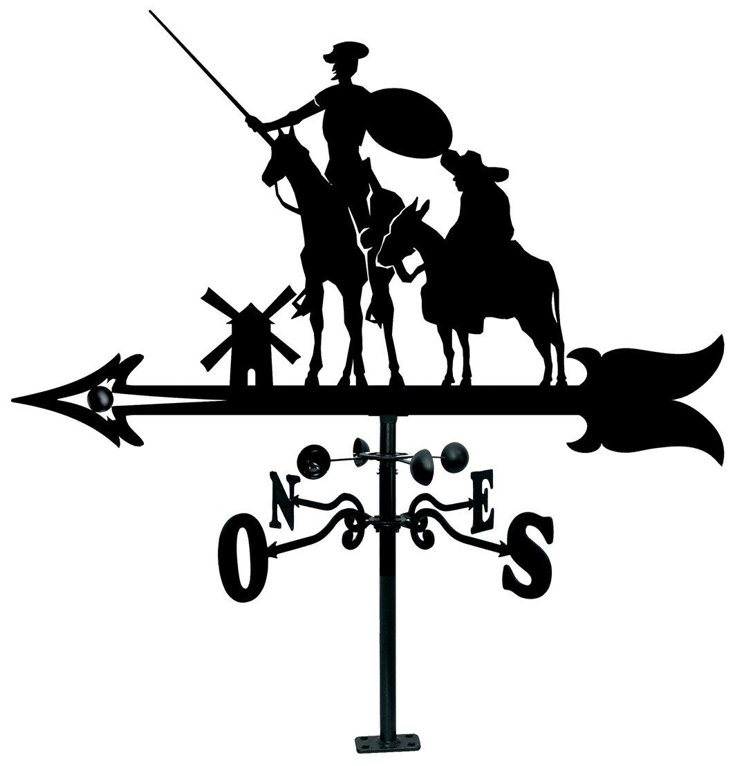 Arthifor Veleta de Viento para Tejado con Silueta de Don Quijote y Sancho