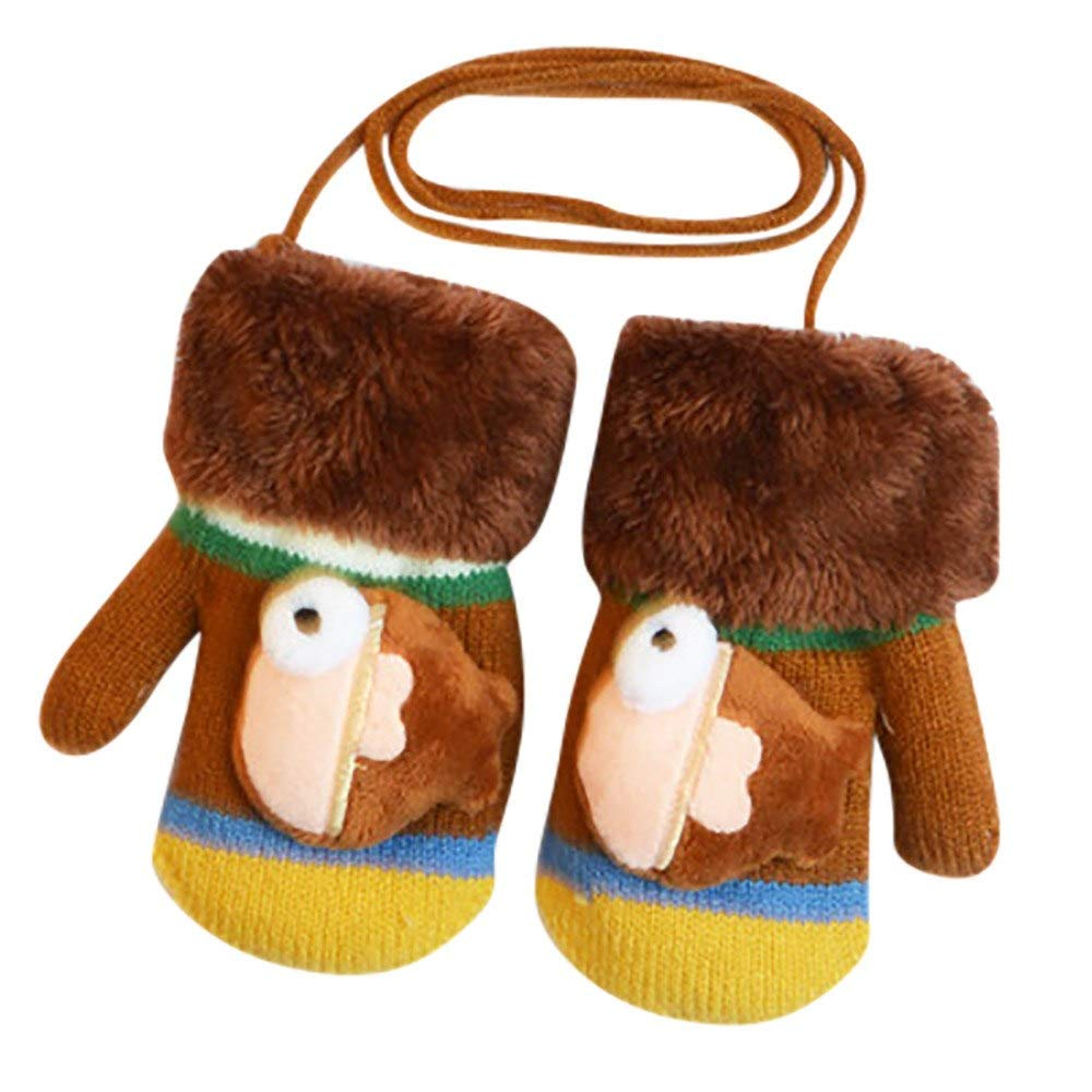 Baby Boys Girls Winter Warm Gloves Cute Cartoon Thicken Warm Girls Boys Of Winter Warm Gloves aged 1 to 3 years