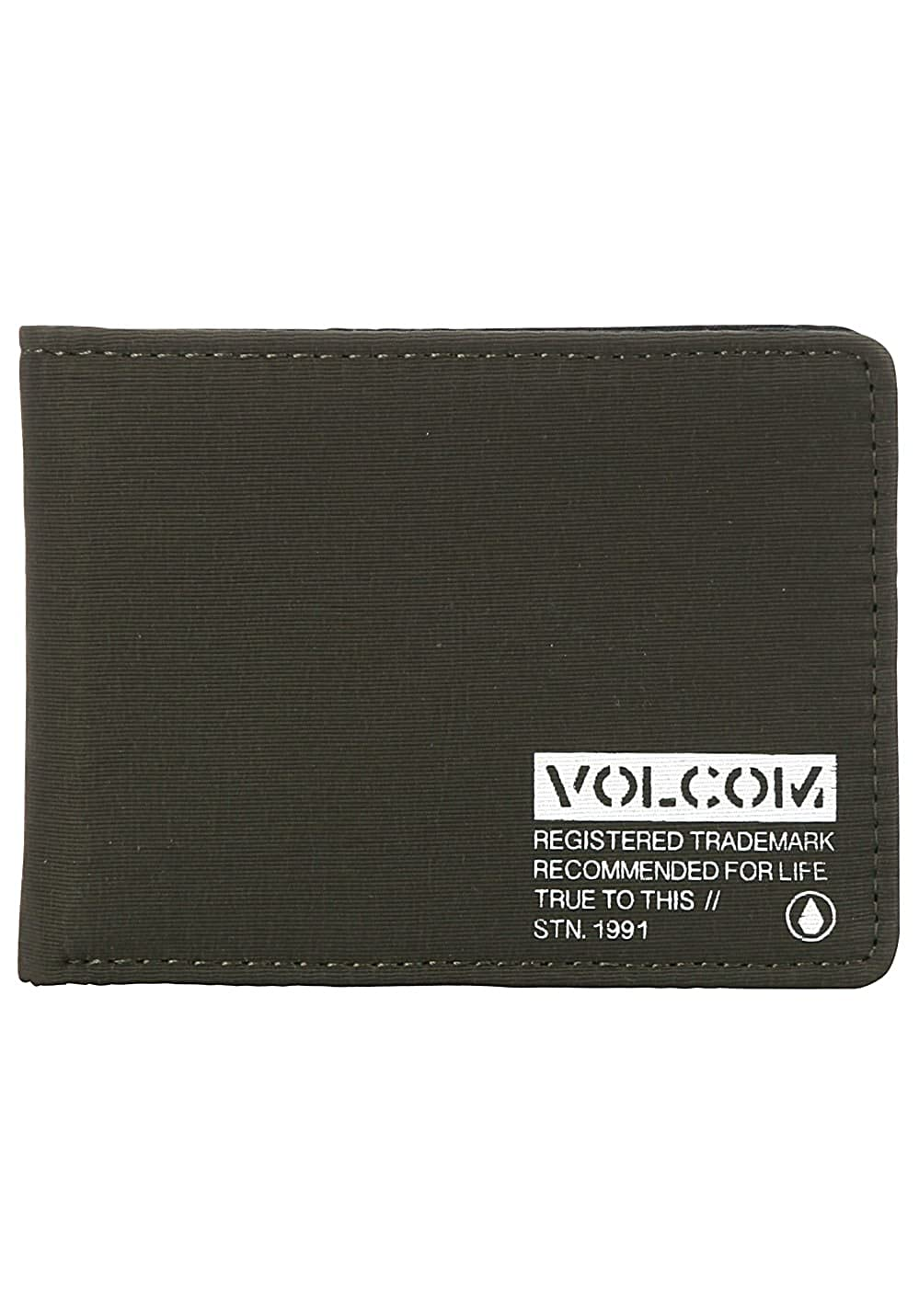 Volcom Men's Spark 3 Fold Wallet, Military, One Size fits All D6031853