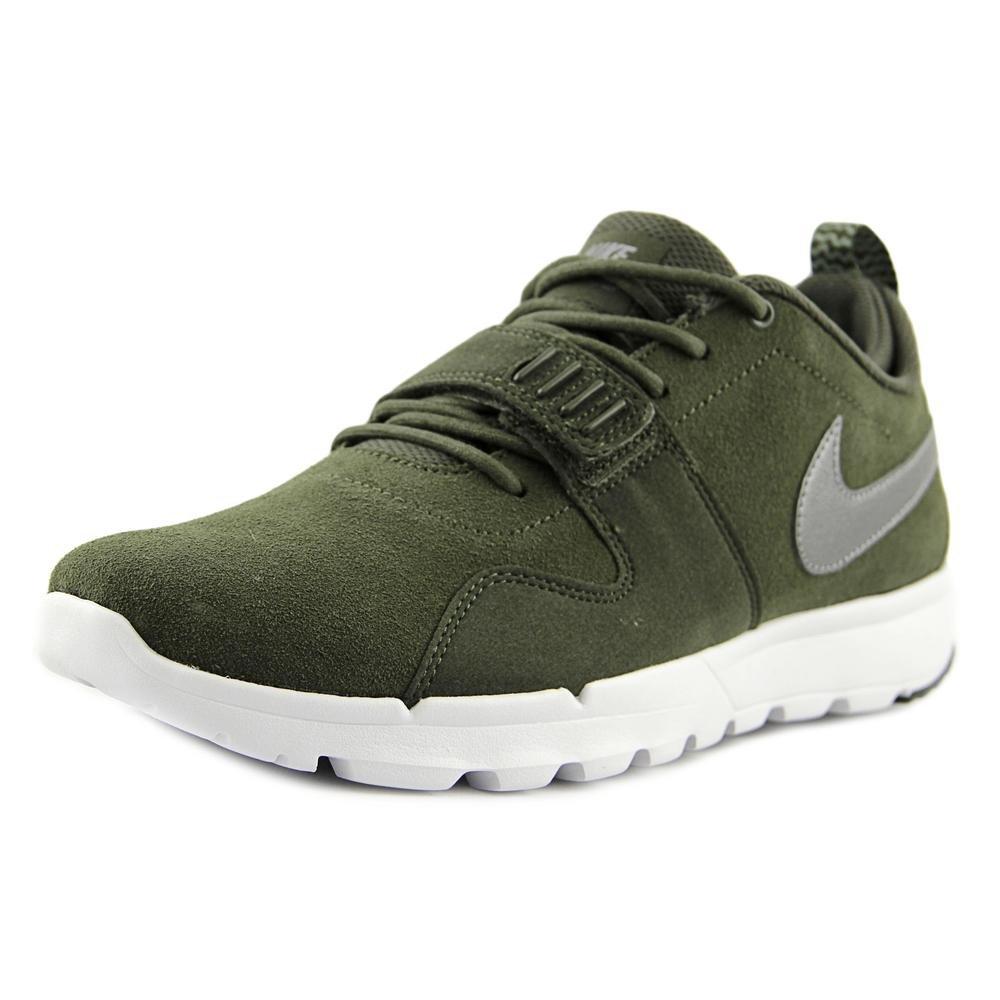 Nike Trainerendor L Zapatillas de Skateboarding, Hombre 45 EU|Verde / Gris / Blanco (Crg Khk / Mtlc Cl Gry-white-whit)