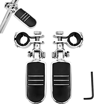 Motorcycle Highway Foot Pegs Rest Pedals with Mounting Fixing Brackets Shifter Footpeg Suitable for Harley Softail Sportster Touring Electra Road Glide Road King Street Glide with Harley 1 1.25 Engin