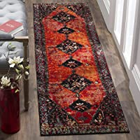 Safavieh Vintage Hamadan Collection VTH217B Orange and Multi Runner, 22 x 12
