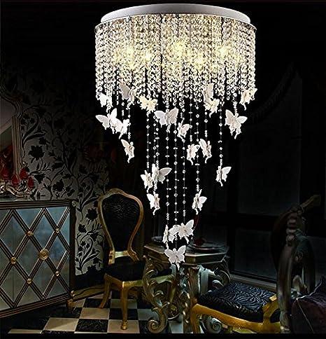 BFDGN Salón De Estilo Europeo Lámpara De Cristal Redonda ...