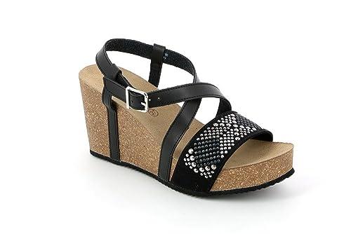 Grunland Sb0887 Ceke Sandalo Donna S. Beige 37 VOz4g5QKR