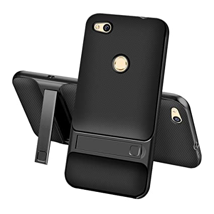meet c0df2 c95c6 HUAWEI P8 Lite(2017) Back Cover Case - Ultra Slim Dual Layer Hybrid  Shockproof Rugged Non-slip Protective Cover[Soft TPU and Hard PC]With  Kickstand ...