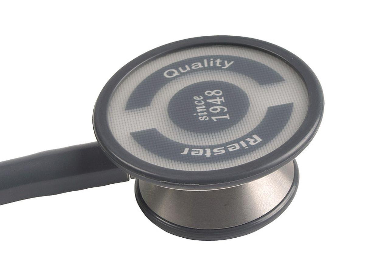 Riester  Estetoscopio duplex negro aluminio caja expositora de cartón