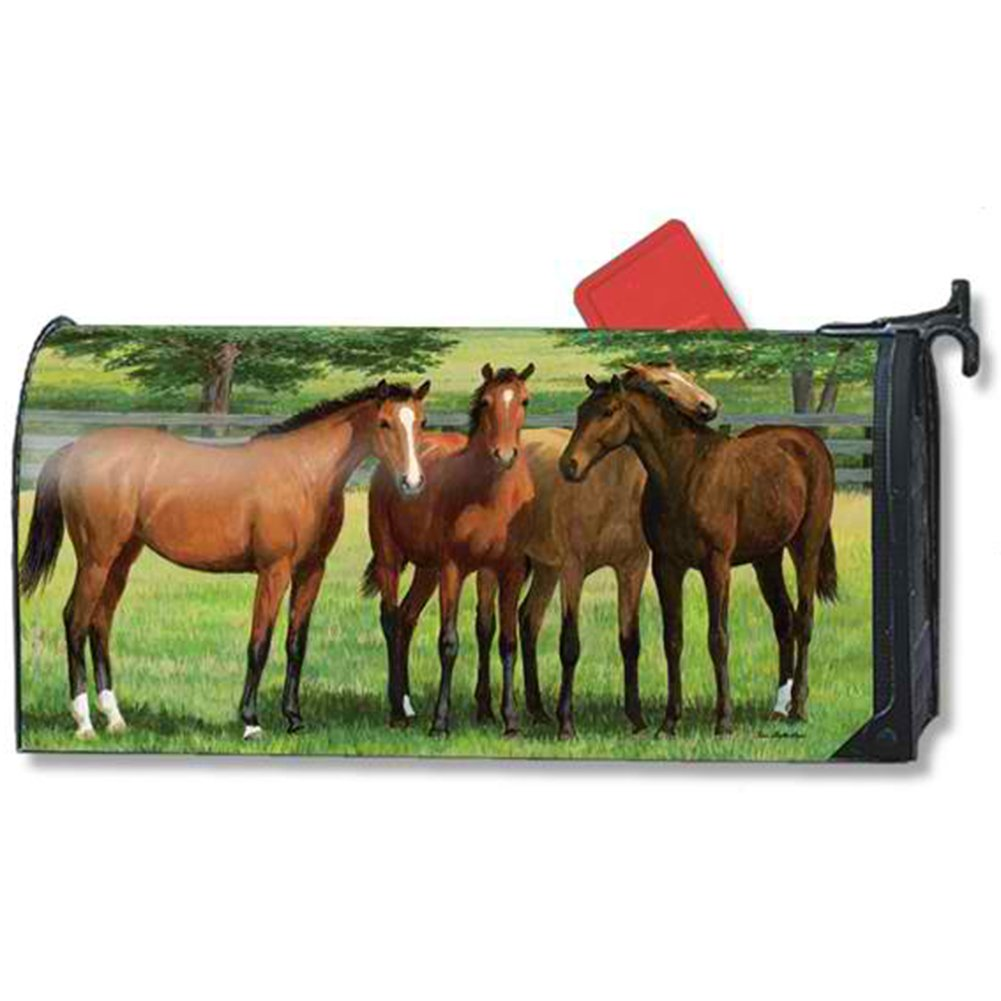MailWraps Grazing Time Mailbox Cover 01468