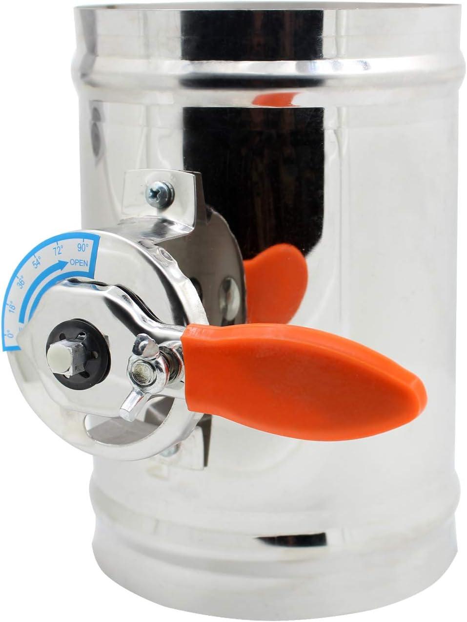 1 pieza - HVAC compuerta regulacion aire para tubo ventilacion 1 pieza diámetro 80 100 125 150 200 250 300 250 400 mm (Diámetro 150mm)