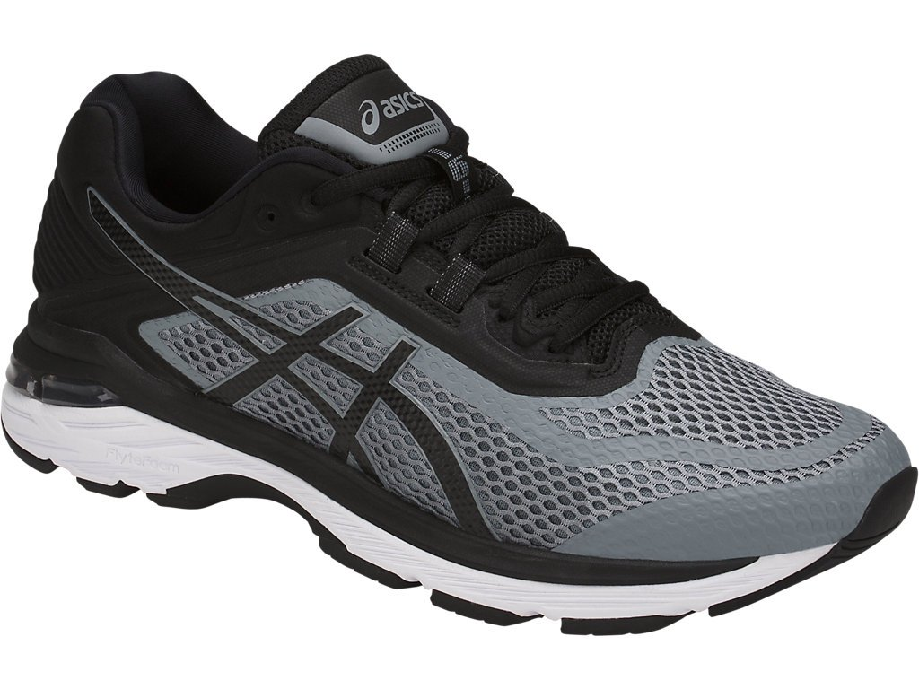 ASICS GT-2000 6 Men's Running Shoe, Stone Grey/Black/White, 6.5 M US