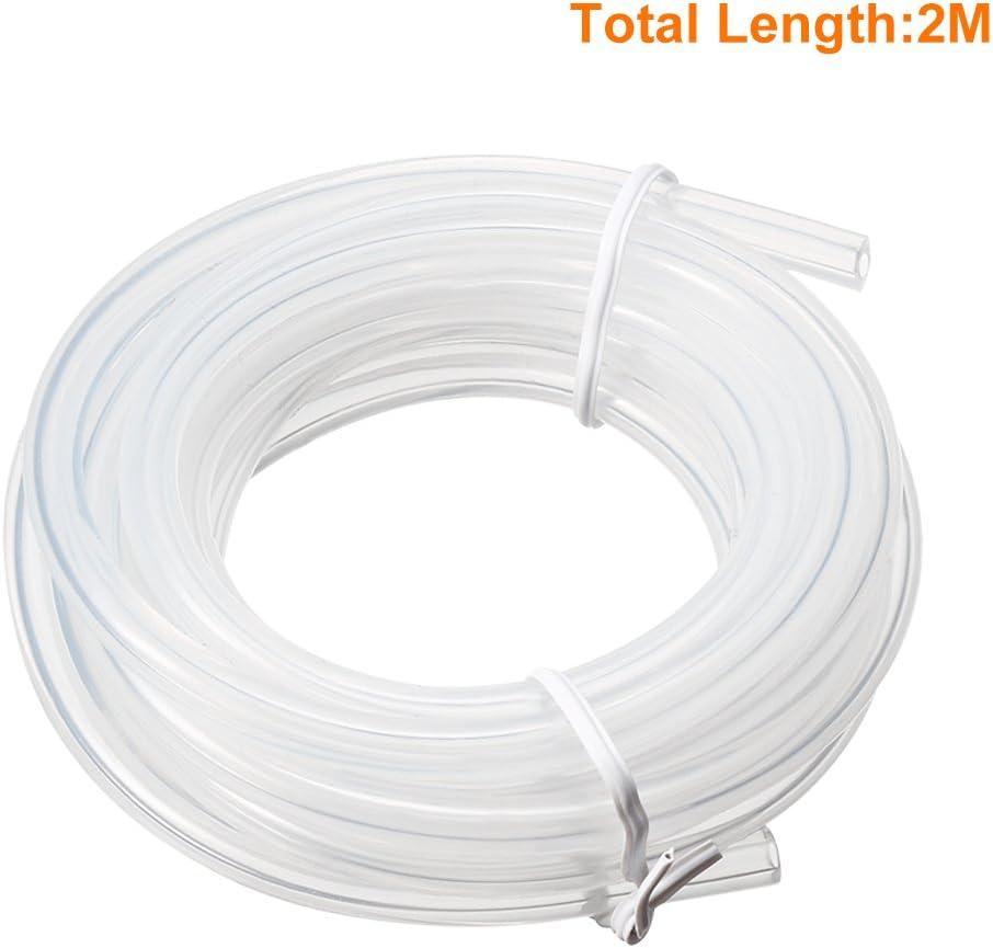 sourcing map ID de tubes en silicone x 6 mm OD 6.56ft 2m flexible en caoutchouc silicone Tube flexible dair Tuyau pour pompe de transfert Effacer