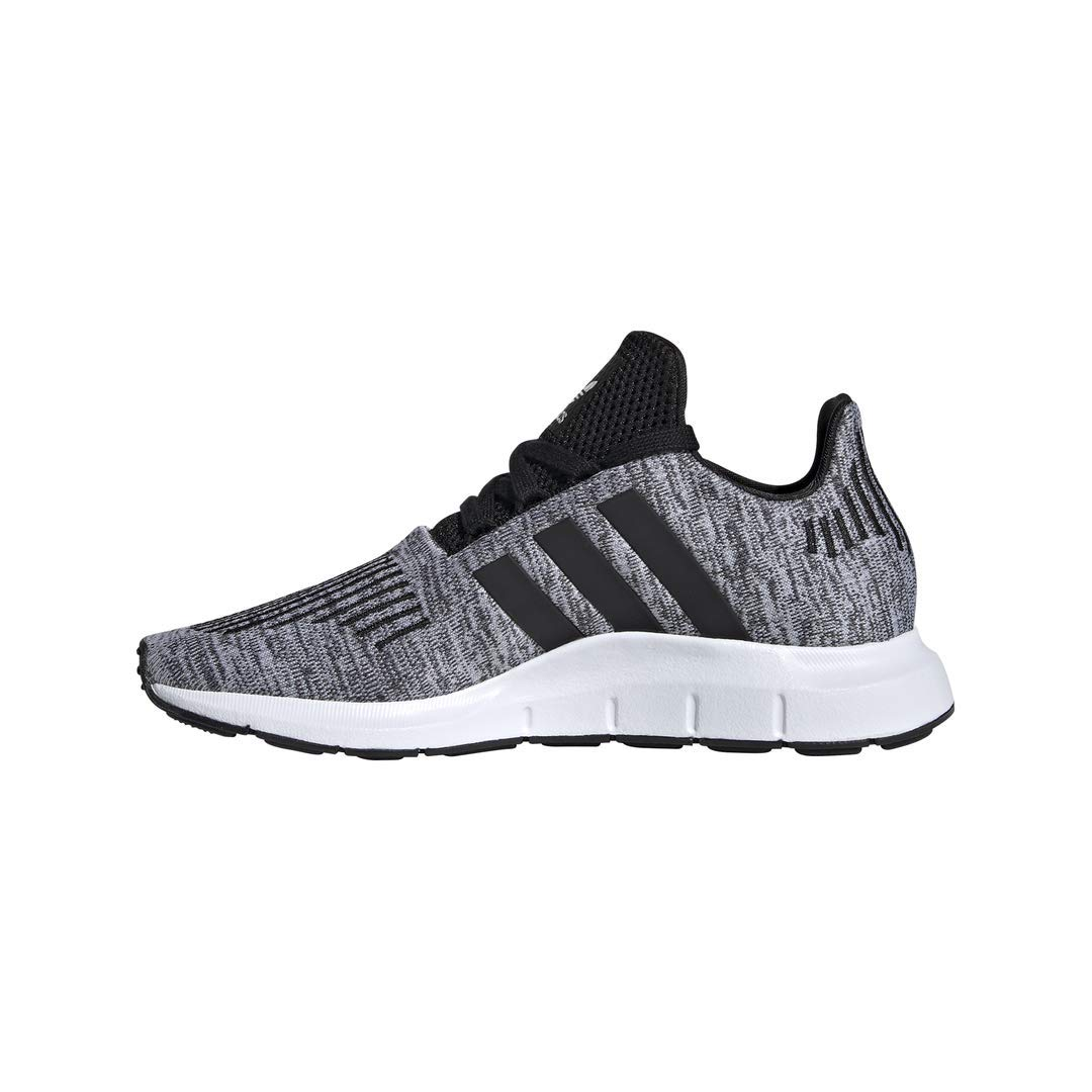 adidas Originals Kids Boy's Swift Run J (Big Kid) White/Black 6.5 M US Big Kid by adidas Originals (Image #4)
