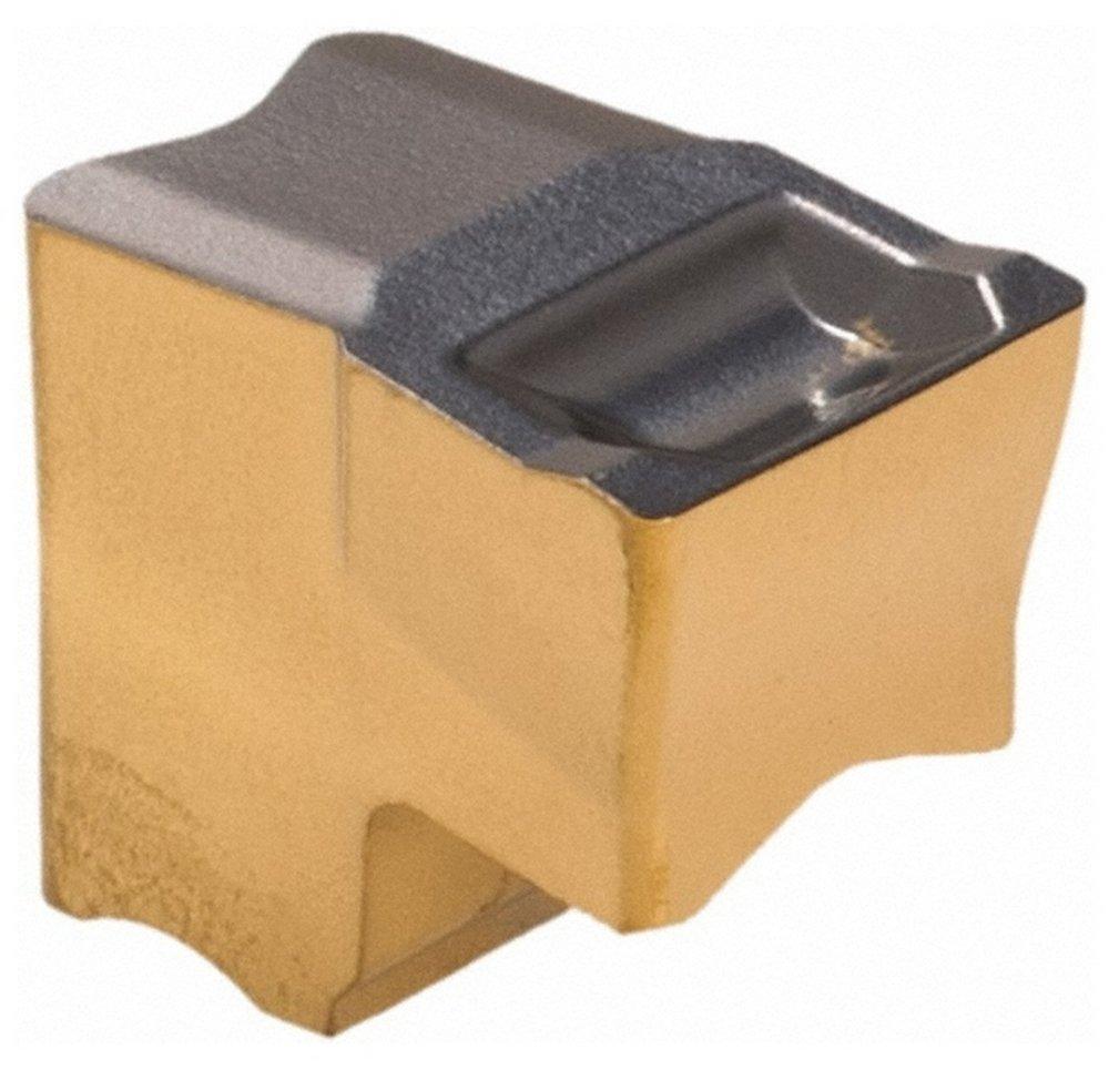 TiAlN//AlTiN//TiN Coated TAG6.3 IC808 Grade Neutral Lead Angle 0.0138 Cnr Rad 0.248 Cutting Width Single End Carbide Cutoff Insert