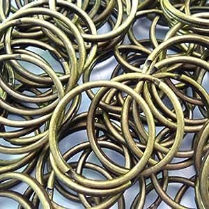 100-Pack 25mm Metal gancho de Split Anillo llavero, piel Craft