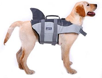 Dog Swimming Life Jacket Reflective Saver Preserver Floatation Vest Float Coat