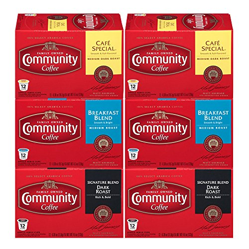 Pastries Pack Variety (Community Coffee Variety Pack Medium to Dark Roast Single Serve 72 Ct Box, Compatible with Keurig 2.0 K Cup Brewers, Rich Smooth Flavor, 100% Arabica Coffee Beans)