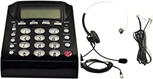 Work from Home Office Telephone Call Center Dial Key Pad Phone + Headset Headphone with Mute Volume Control