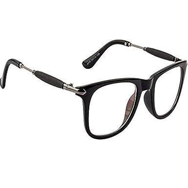 465d754d39 Dervin Clear Lens Black Frame Wayfarer Sunglasses for Men and Women ...