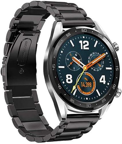 montre huawei connectée homme bracelet metalique chargeur