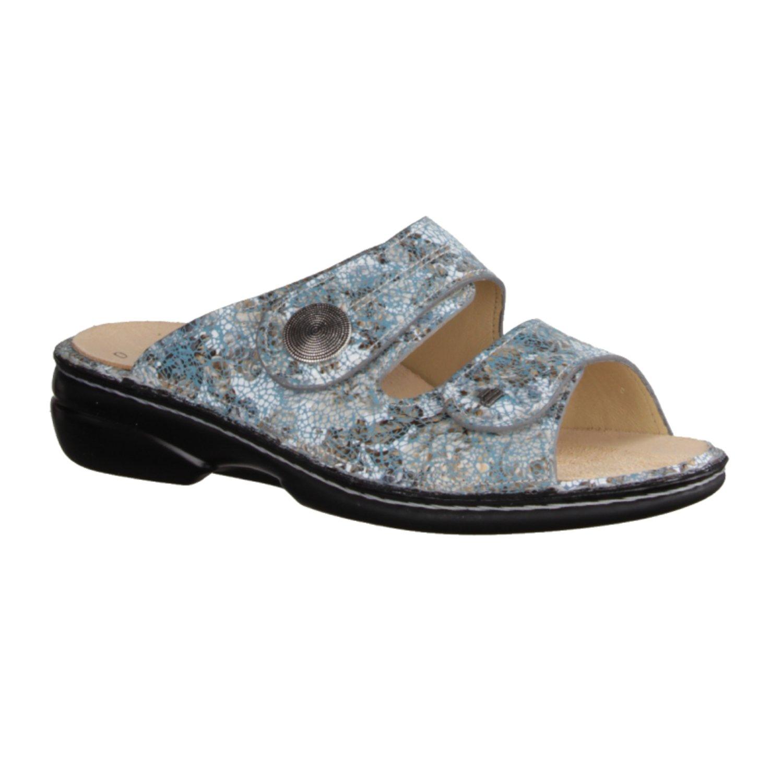 Finn Comfort Womens Sansibar 2550 Leather Sandals 36 EU|Azul
