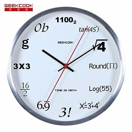 DIDADI Wall Clock Creatividad digital reloj reloj de pared de diseño de oficina de dibujo Silencio