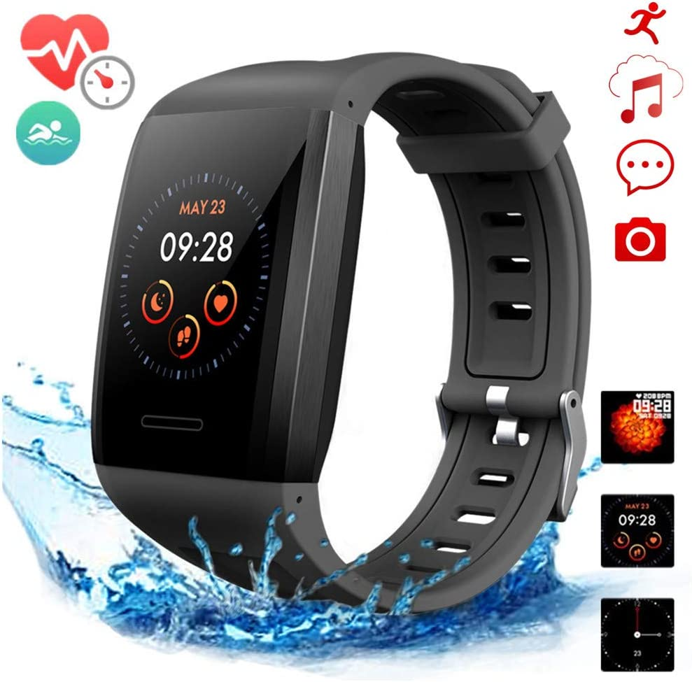 Fitness Watches,Smart Sport Watches with GPS,Activity Tracker Watch with Heart Rate Monitor,Step Counter Watch,Pedometer Watch IP68 Waterproof Sleep Monitor Blood Pressure Watch
