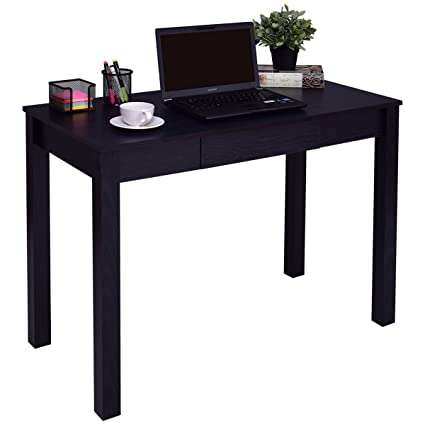 TANGKULA Computer Desk With Drawer Home Office Compact Efficient Laptop PC Wood Workstation Writing Study