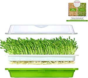 Seed Sprouter Tray with Lid Sprouting Kit Extra Small Hole