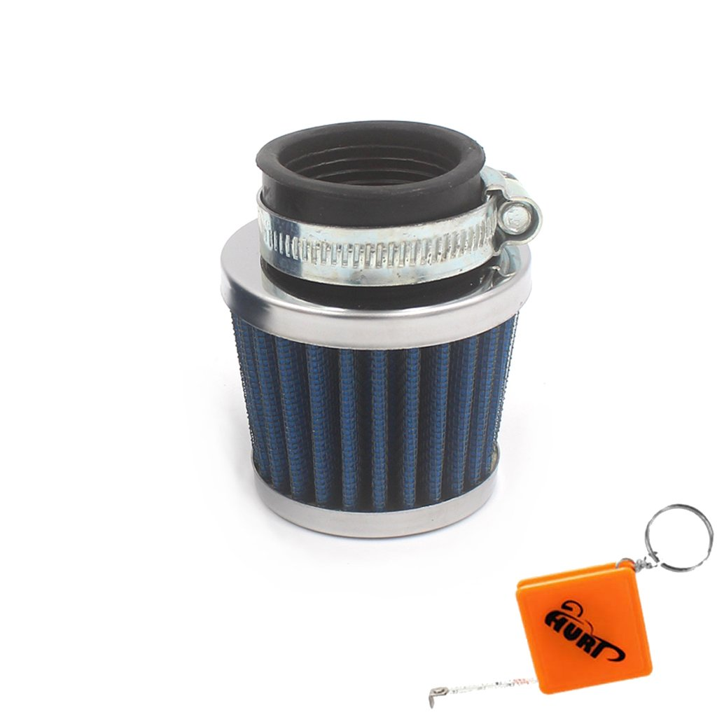 HURI Pit Dirt Bike 35mm Air Intake Filter Cleaner 50cc 110cc 125cc for Universal Motorcycle ATV Scooter KNA RACING