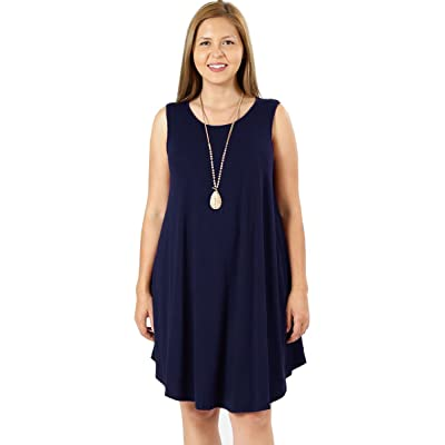 12 Ami Plus Size Basic Tank Swing Tunic Dress w/Pockets