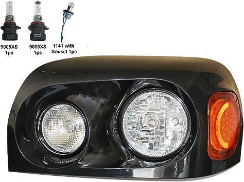 Passenger side WITH install kit 2006 Hyundai SANTA FE Post mount spotlight 100W Halogen -Black 6 inch