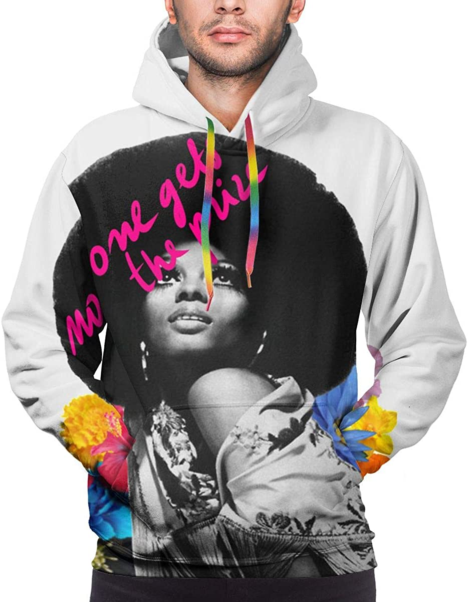 LEOUMAOYE Diana Ross No One Gets The Prize Mens 3D All Print Hooded Sweatshirt
