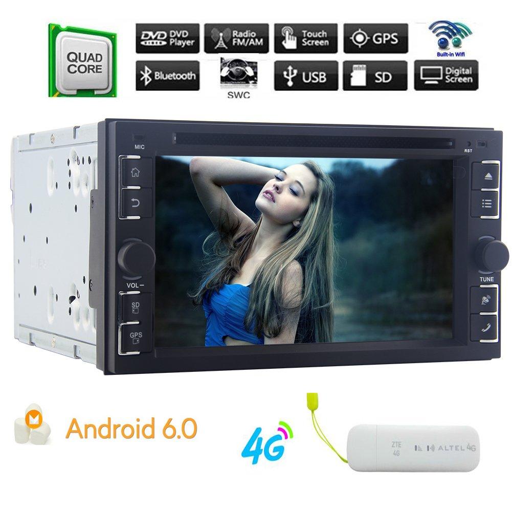 Actualizar Android 6.0 Eincar radio de coche estéreo DVD Sistema de navegación del GPS del coche de la rociada Doble Din 2 de unidad principal Autoradio ...
