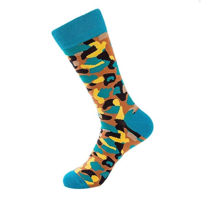 BHYDRY Calcetines otoñales de camuflaje para hombres Calcetines de algodón casuales Calcetines de skate: Amazon.es: Ropa y accesorios