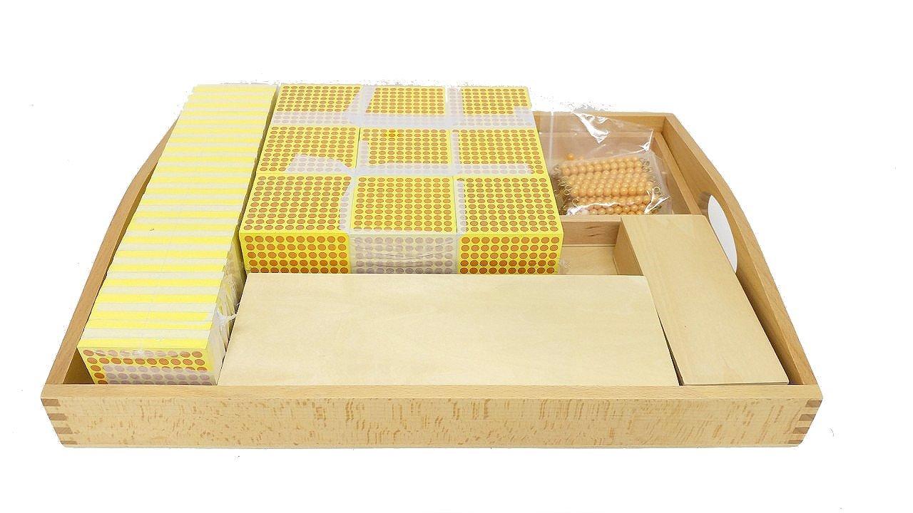 Montessori Decimal System Material Set W/ Number Cards by PinkMontessori by pinkmontessori (Image #1)