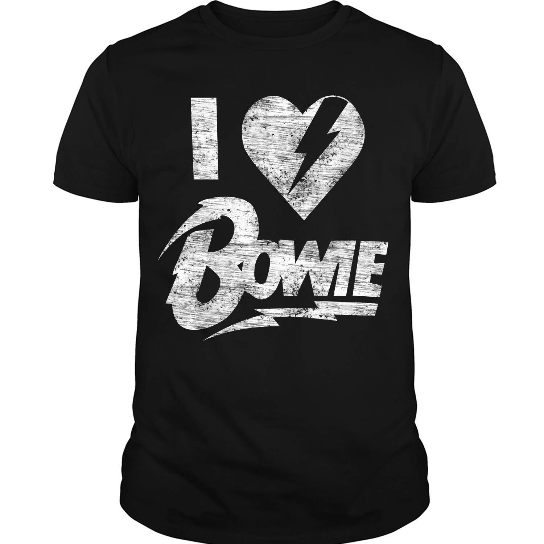 I Love Bowie T Shirt David Bowie Singer T Shirt