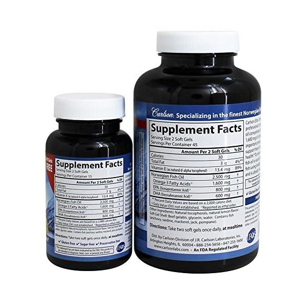 Carlson Elite Omega 3 Gems 1600 Mg Omega 3 Fatty Acids