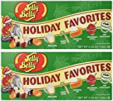 (Set/2) Jelly Belly Christmas Holiday Favorite Flavored Candy Beans Gift Box