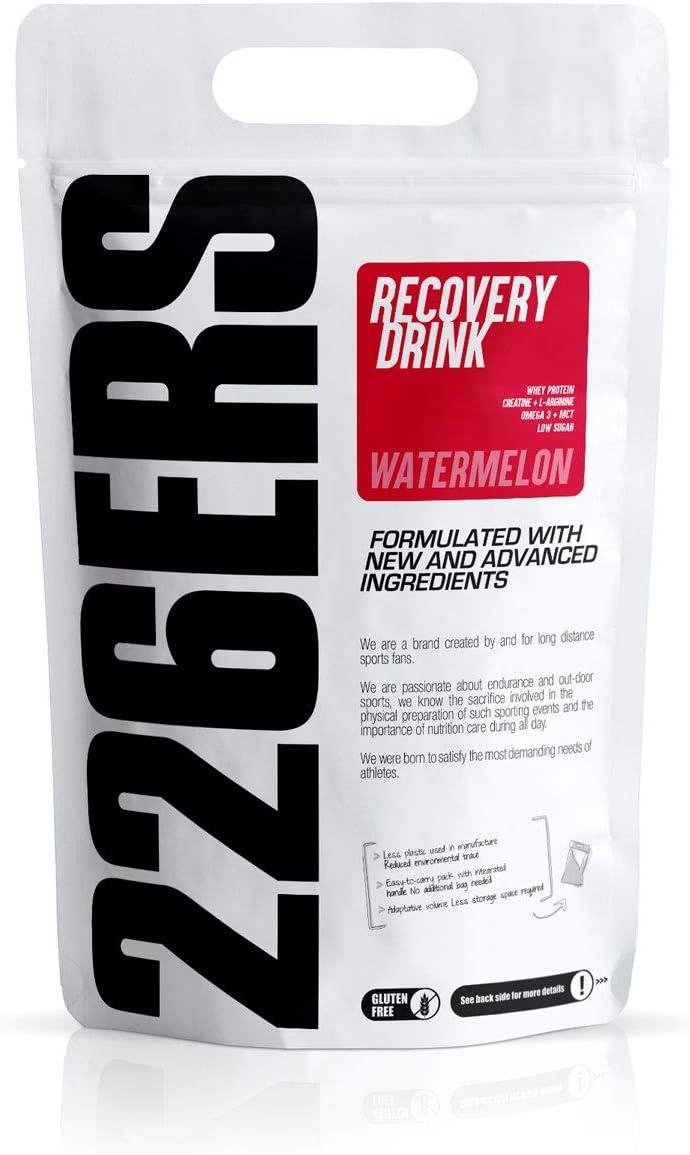 226ERS Recovery Drink   Recuperador Muscular con Proteína Whey, Creatina, Hidratos de Carbono, Triglicéridos y L-Arginina, Sin Gluten, Sandía - 1000 ...