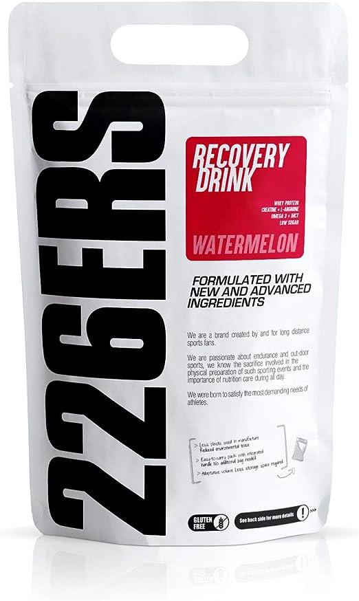 226ERS Recovery Drink | Recuperador Muscular con Proteína Whey, Creatina, Hidratos de Carbono, Triglicéridos y L-Arginina, Sin Gluten, Sandía - 1000 ...