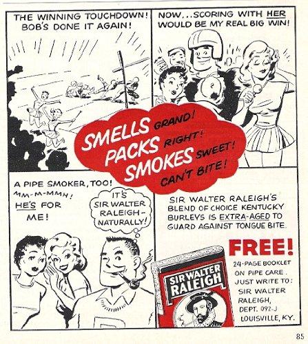 Sir Walter Raleigh Pipe Tobacco 1956 Original Cartoon Advertisement
