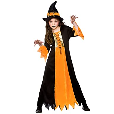 M) Cauldron Witch Girls Witch Costumes Kids Witches Halloween ...