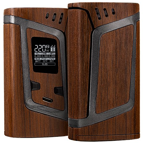 Price comparison product image SMOK Alien 220w Skin - Premium Quality Protective Decal Kit - Ultra-Precise Fit Wrap + Bonus / Wood Brown