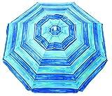 Rio Beach Sandblaster Instant Install Boho Umbrella, 6.5', Blue Stripe