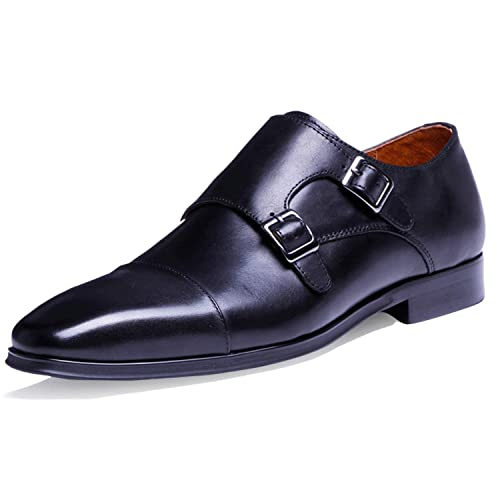 Desai Mens Formal Shoes Double Buckle Monk Amazoncouk Shoes Bags