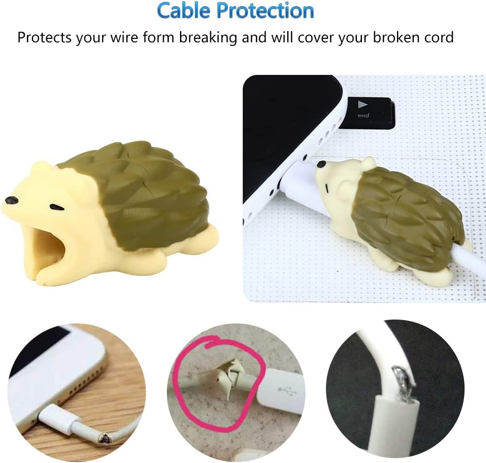 RHCPFOVR 6 PCS Protecteur de c/âble Protection Motif Cute Animal Bites Prot/ège Coque pour iPhone Accessoires universels d/électronique Design F