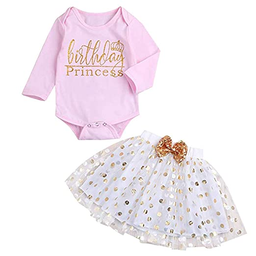 364a57627 Amazon.com  Clearance 2pcs Infant Baby Girls Letter Print Romper ...