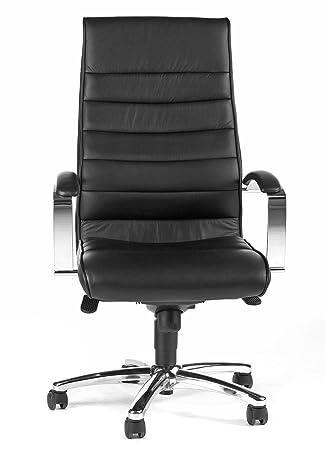 Topstar Designer Luxus Chefsessel Bürostuhl Leder Schwarz Amazon