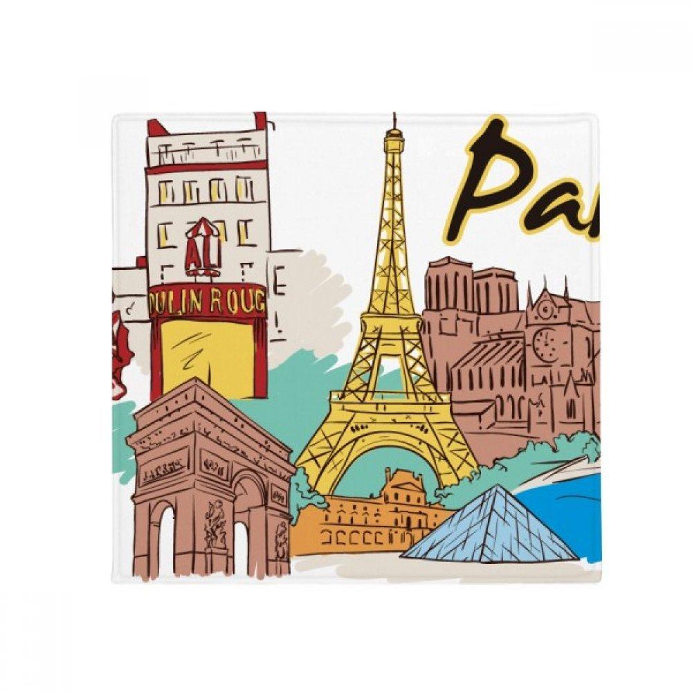 DIYthinker France Paris Eiffel Tower Watercolor Anti-Slip Floor Pet Mat Square Home Kitchen Door 80Cm Gift