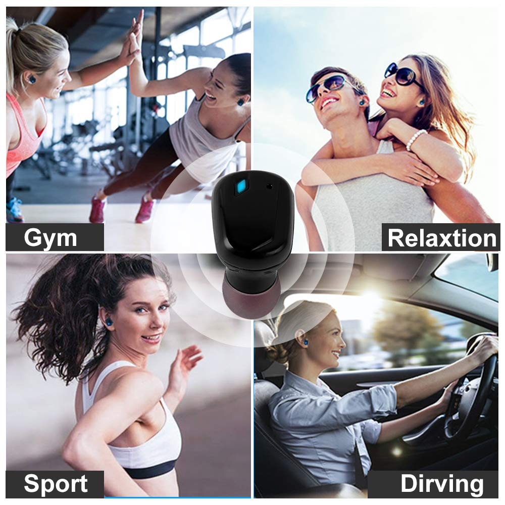 Wireless Earbuds, Wokucia Bluetooth Sport Wireless Headphones, True Wireless Bluetooth Earbuds with Microphone Noise Cancellingand Charging Case for iPhone Samsung Android